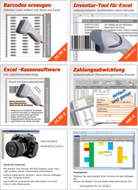 BarcodeTools und andere ExcelTools